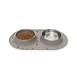 Messy Mutts Double Feeder Dog Bowl