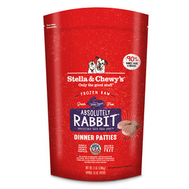 Stella & Chewy's Absolutely Rabbit Dinner Patties Frozen Raw Dog Food