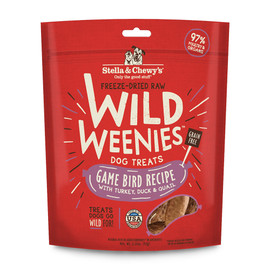Stella & Chewy's Wild Weenies Game Bird Recipe Dog Treats
