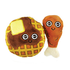 Mad Cat Chicken and Waffles Catnip & Silvervine Plush Cat Toy