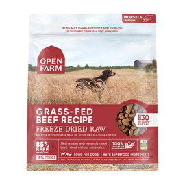 Open Farm Grass-Fed Beef Recipe Freeze Dried Raw Dog Food - Front
