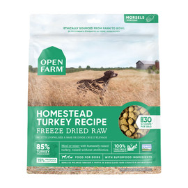 Open Farm Homestead Turkey Recipe Freeze Dried Raw Dog Food - Front