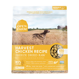 Open Farm Harvest Chicken Recipe Freeze Dried Raw Dog Food - Front