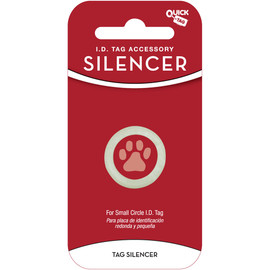 Quick Tag Circle Shaped Pet I.D. Tag Silencer