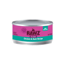 RAWZ Shredded Chicken & Duck Recipe Adult Canned Cat Food