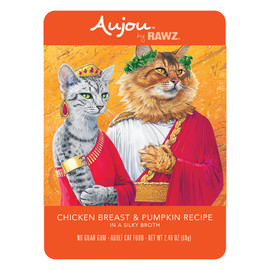 RAWZ Aujou Chicken Breast & Pumpkin Recipe Cat Food Pouch