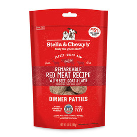 Stella & Chewy's Remarkable Red Meat Recipe Dinner Patties Freeze-Dried Raw Dog Food