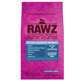 RAWZ Salmon, Dehydrated Chicken & Whitefish Recipe Natural Dry Cat Food
