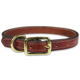 Leather Brothers Premium Collection Stitched and Edged Dog Collars