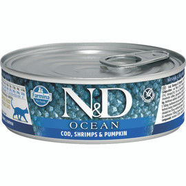 Farmina N&D Ocean Cod, Shrimp & Pumpkin Recipe Adult Canned Cat Food