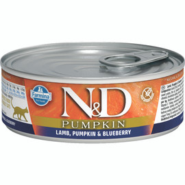 Farmina N&D Pumpkin Lamb, Pumpkin & Blueberry Recipe Adult Canned Cat Food