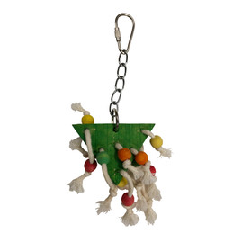 Featherland Paradise Beaded Triangle Bird Toy