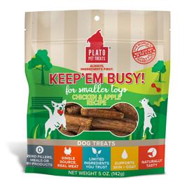 Plato Keep'Em Busy Chicken & Apple Recipe Dog Treats for Smaller Toys