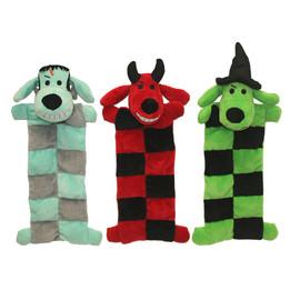 Multipet Loofa Halloween Squeaker Mat Plush Dog Toy, Assorted - Front