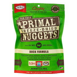 Primal Duck Formula Raw Freeze-Dried Cat Food - Front