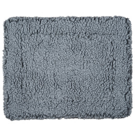 HuggleHounds HuggleFleece Gray Pet Mat - Front