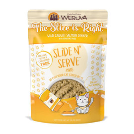 Slide N' Serve The Slice is Right Wild Caught Salmon Dinner Cat Food Pouch