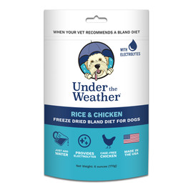 Under The Weather Rice & Chicken Freeze Dried Bland Dog Food
