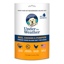 Under The Weather Rice, Chicken & Pumpkin Freeze Dried Bland Dog Food