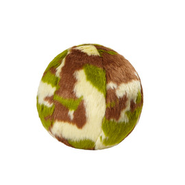 Fluff & Tuff Camo Ball Plush Dog Toy