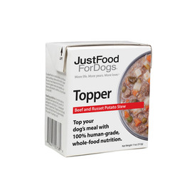 JustFoodForDogs Beef and Russet Potato Stew Dog Food Topper - Front