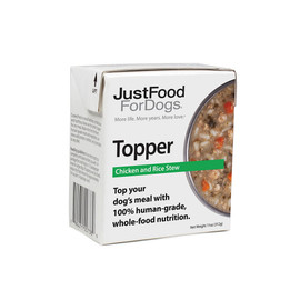 JustFoodForDogs Chicken & Rice Stew Dog Food Topper - Front
