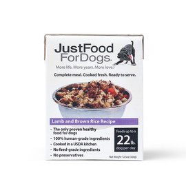 JustFoodForDogs Pantry Fresh Lamb and Brown Rice Recipe Wet Dog Food