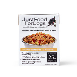 JustFoodForDogs Pantry Fresh Turkey and Whole Wheat Macaroni Recipe Wet Dog Food