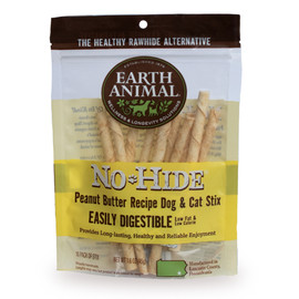 Earth Animal No-Hide Peanut Butter Stix Dog Chew Treats