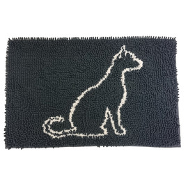 Clean Paws Gray Cat Mat