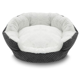 Pure Comfort Clamshell Gray Pet Bed
