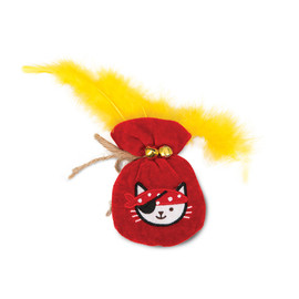 Catit Play Pirates Plush Gold Pouch Catnip Cat Toy