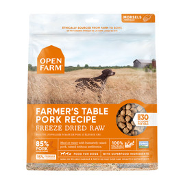 Open Farm Farmer's Table Pork Freeze Dried Raw Dog Food - Front