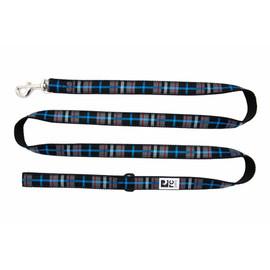 RC Pets Black Twill Plaid Dog Leash