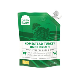 Open Farm Homestead Turkey Bone Broth for Dogs & Cats- Front