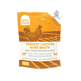 Open Farm Harvest Chicken Bone Broth for Dogs & Cats  - Front