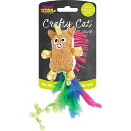 Crafty Cat Prancing Pom Unicorn Cat Toy