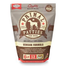 Primal Raw Frozen Canine Patties Venison Formula Dog Food