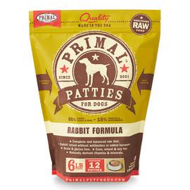 Primal Raw Frozen Canine Patties Rabbit Formula Dog Food