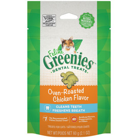 Feline Greenies Oven-Roasted Chicken Flavor Cat Dental Treat