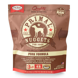 Primal Raw Frozen Canine Nuggets Pork Formula Dog Food