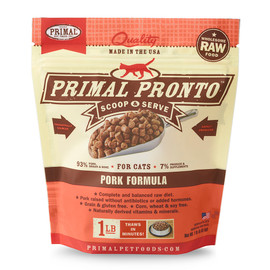 Primal Pronto Raw Frozen Feline Pork Formula Cat Food