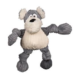 HuggleMutt Roscoe Knottie Plush Tough Dog Toy