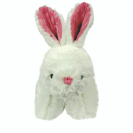 HuggleHounds Squooshies Bunny Tough Plush Dog Toy