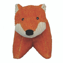 HuggleHounds Squooshies Fox Tough Plush Dog Toy