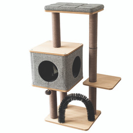 PetPals Three-Level Elevated Cat Tree Condo