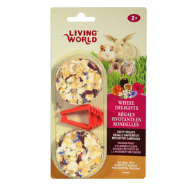 Living World Wheel Delights Passion Fruit & Flowers Flavor Small Animal Treat