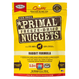 Primal Rabbit Formula Raw Freeze-Dried Dog Food - Front