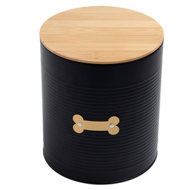 Park Life Designs Hector Black Food Tin Pet Treat Jar