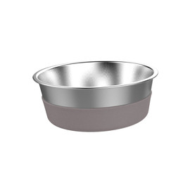 Messy Mutts Stainless Steel Heavy Gauge Dog Bowl with Non-Slip Removable Silicone Base